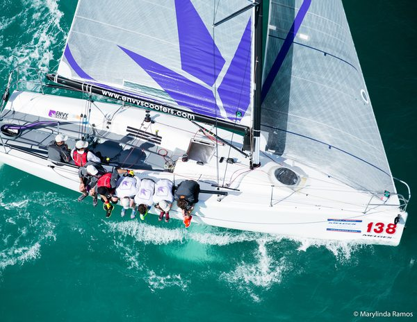 MIAMI BEACH - Professional sailors have traditionally been a rarefied breed. With the growing popularity of televised events like the America's Cup, and of spectator racing in Europe, however, Australian Barry Cuneo may be at the leading edge of a tipping point. His mission, to develop young sailors that are so good, he looses them to the competition. The current crop, pictured here keeping the boat flat and fast in heavy air, wraps up the Melges 32 World Championships on December 7th.
