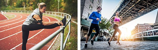 photos of runners being sold as commercial stock photography