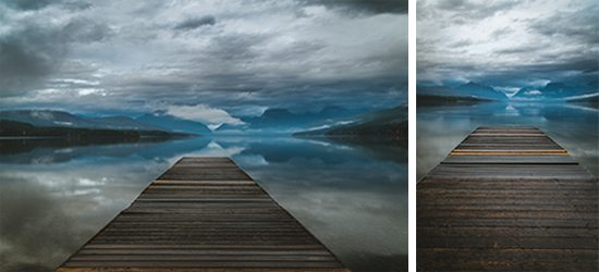 Two examples of working the shot with stock photography by rotating the camera