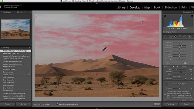 Adobe Lightroom new feature called range masking