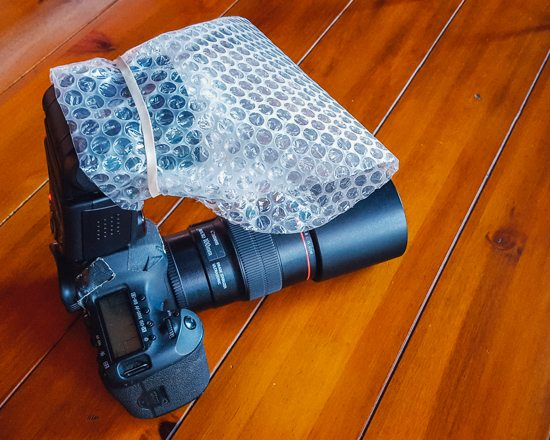 Bubble wrap photography tool