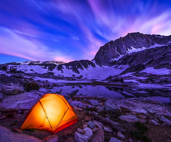 tent at twilight stock photography