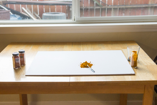 A set up for taking advantage of natural light in photography