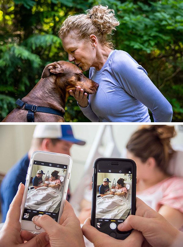 Stock photos showing the concept of human connection