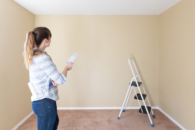 It's easy to turn repairs around the house into home improvement stock photos...