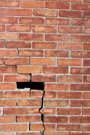 brick wall for commerical photography