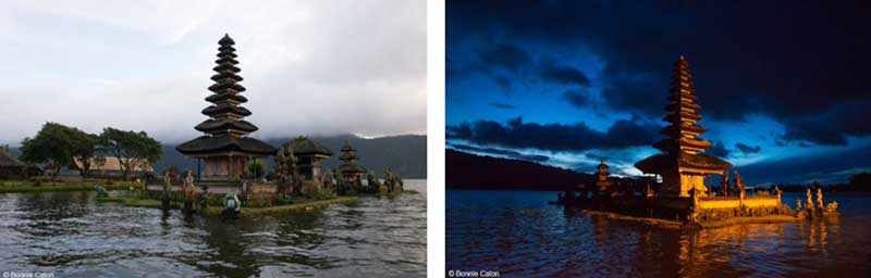 blue hour cloudy photography