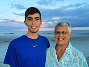grandson and grandmother