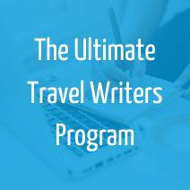 ultimate travel writers program