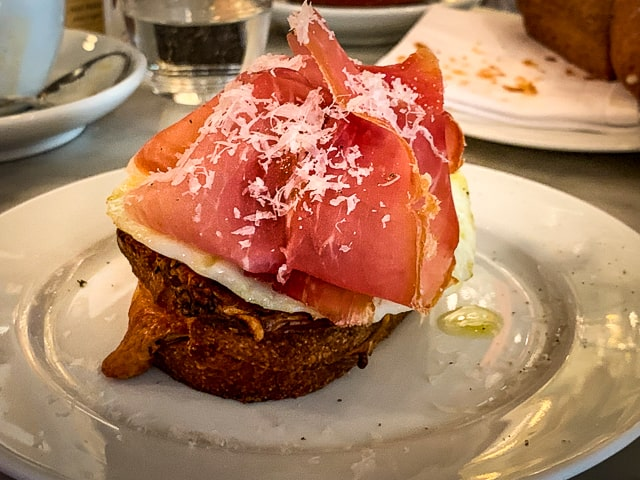Heaven on toast, Buvette's prosciutto and egg