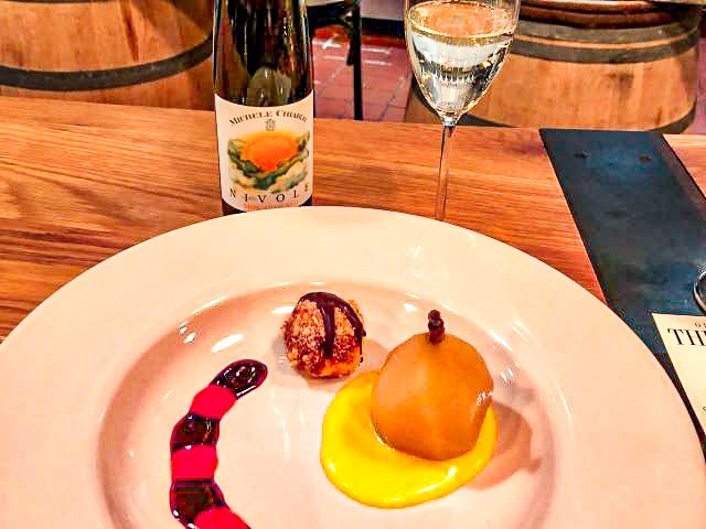 Poached Pear w Muscato d'Asti