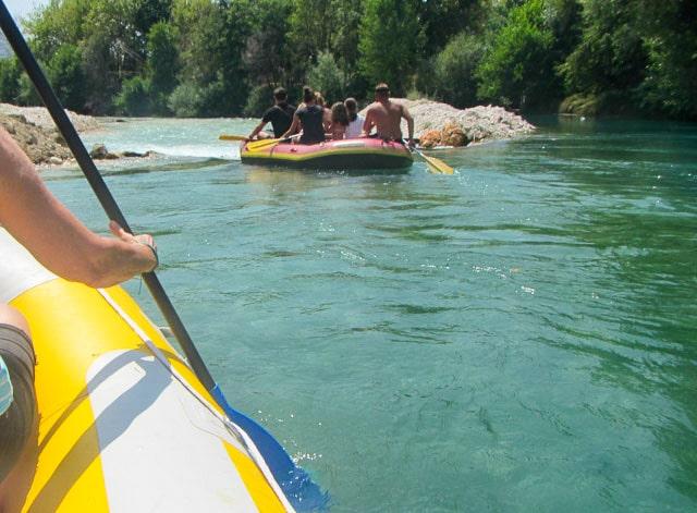 Acheron kayakers