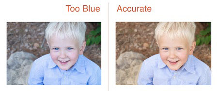 before and after image of boy in lightroom