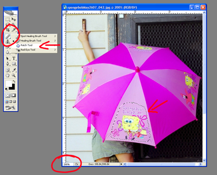 Photoshop: Removing Logos from Photos